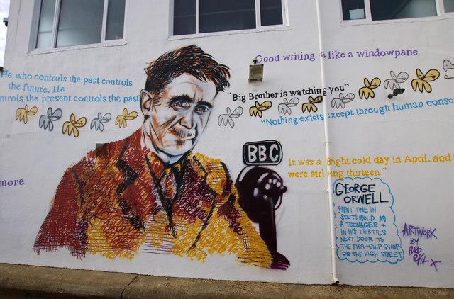 Peinture murale de George Orwell