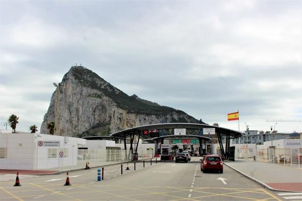 la frontière de Gibraltar